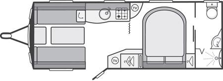 Sterling Eccles Sport 584 Caravan Floor Plan