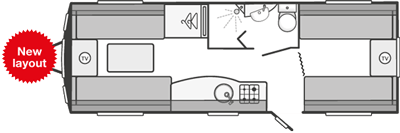 Swift Colour Concept Caravan Floorplan