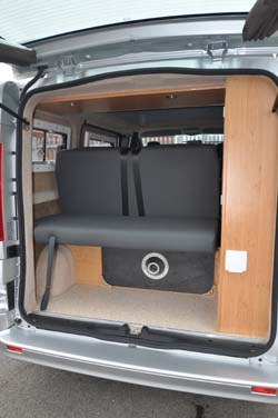 Hillside Leisure Ellastone 2013 boot via rear door