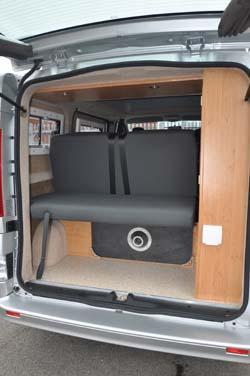Hillside Leisure Ellastone 2013 boot via rear door