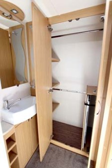 2014 Elddis Compass Corona 462 shower room & Wardrobe