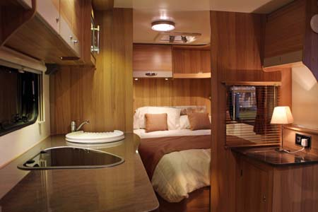 Bailey Pursuit Caravans - rear view in fixed bed model
