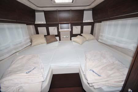 Concorde Charisma III 900LS Motorhome Sleeping arrangements