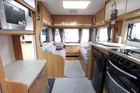 Lunar Quasar 564 Caravan Kitchen & Lounge