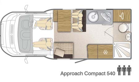 Bailey Approach Compact 540 Motorhome floor plan