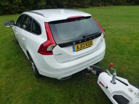 Volvo V60 Hybrid Rear Hitched