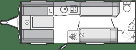 Swift Challenger SE 565 Floor Plan