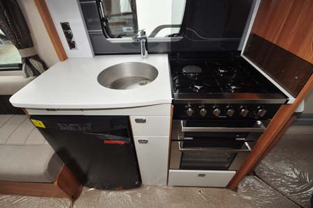 Swift Elegance 580 caravan kitchen sink