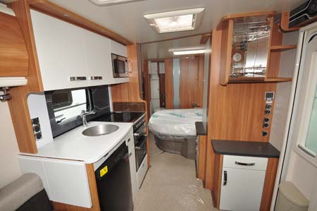 Swift Elegance 580 caravan kitchen
