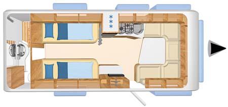Hymer Nova 580 Floorplan