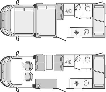 Swift Escape 696 Floorplans