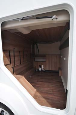 Swift Rio 325 garage storage