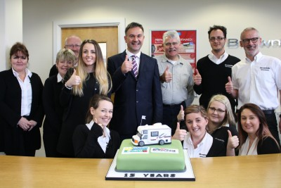 Caravan Guard and Brownhills 15 year partnership celebration