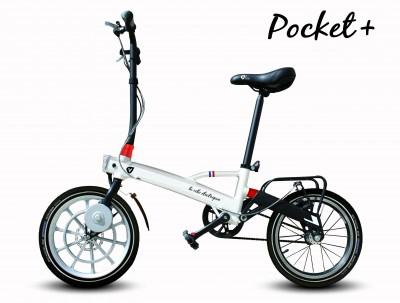 Pocket plus LH white electric bike