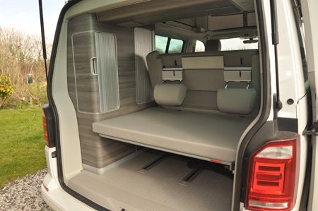 VW California Ocean Rear storage