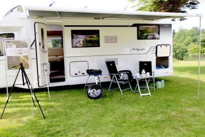 Bailey Autograph motorhomes built in awning