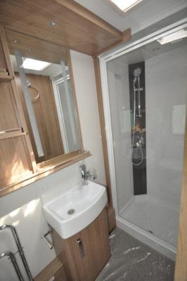 Coachman Laser 675 shower room