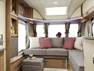 Lunar Alaria RI Caravan front lounge