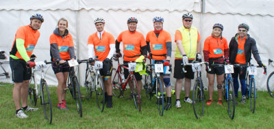 Caravan Guard Great Yorkshire Bike Ride team 2016