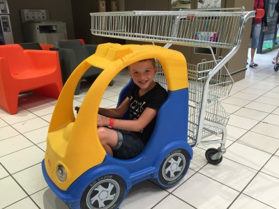 Family caravanning holiday