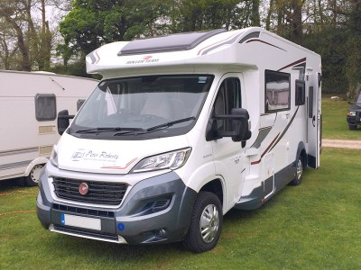 Low profile coachbuilt motorhome body type