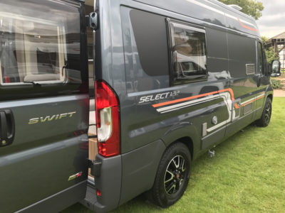 Swift Select 122 Motorhome rear exterior