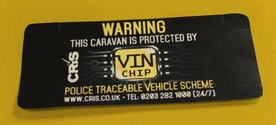 VIN Chip Plus door warning label