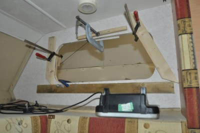 Repairing damage caused by damp in a motorhome