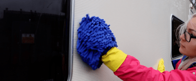 Caravan cleaning - sides