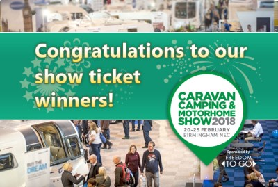 Caravan and Motorhome show ticket winners