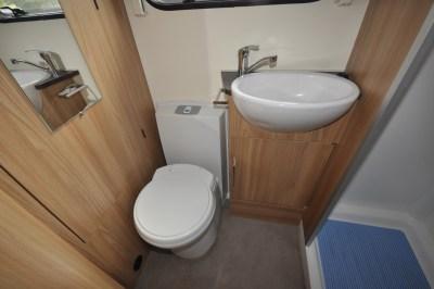 Bailey Pursuit 550 4 caravan WC and basin