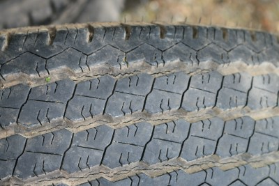 Caravan tyre splitting in tread