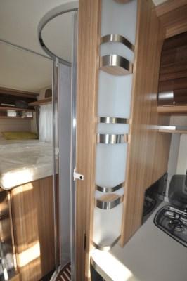 Knaus Sun Ti 700 MEG motorhome between kitchen and shower