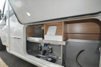 Knaus Sun Ti 700 MEG motorhome side access to hookup