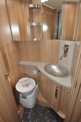 Knaus Sun Ti 700 MEG motorhome washroom