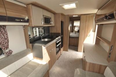 Swift Conqueror 480 caravan interior looking back