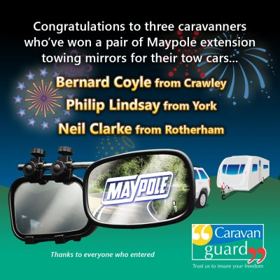 Maypole towing mirrors competition winners