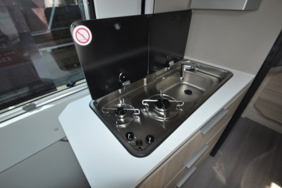 Adria Twin 640 kitchen
