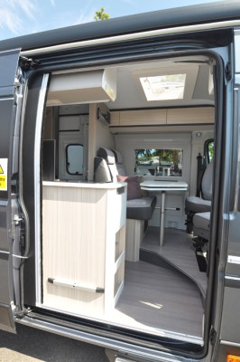 Adria Twin 640 through the door