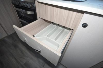 Coachman Pastiche 470 kitchen drawers