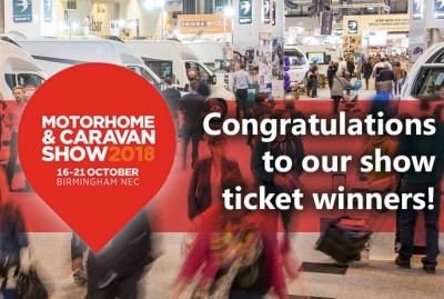 Motorhome Show ticket winners