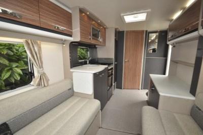 Swift Eccles 480 caravan interior looking back