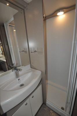 Swift Eccles 480 caravan shower room and basin