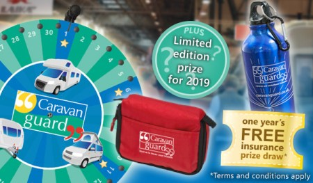 Caravan Guard celebrating 20 years at the Caravan, Camping and Motorhome Show 2019
