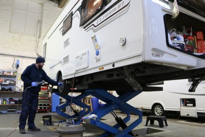 caravan serviced