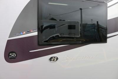 2019 Buccaneer Aruba caravan side window