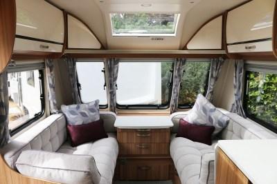 2019 Lunar Clubman SI caravan lounge
