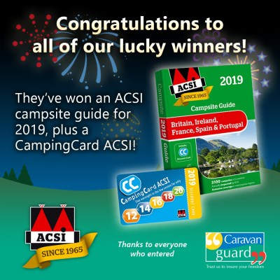 ASCI campsite guide winners