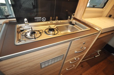 2019 HymerCar Ayers Rock Crossover campervan kitchen