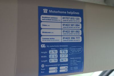 Make note of your motorhome dimensions